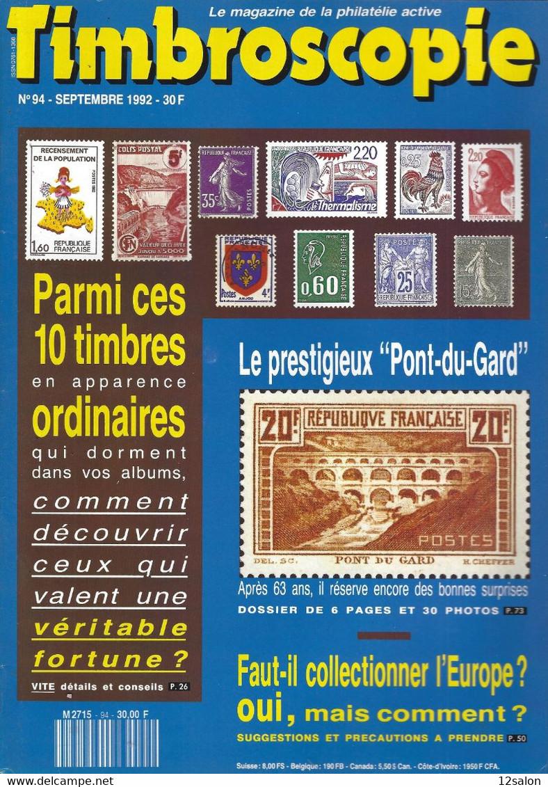 TIMBROSCOPIE  N° 94 + SOMMAIRE - Francesi (dal 1941))