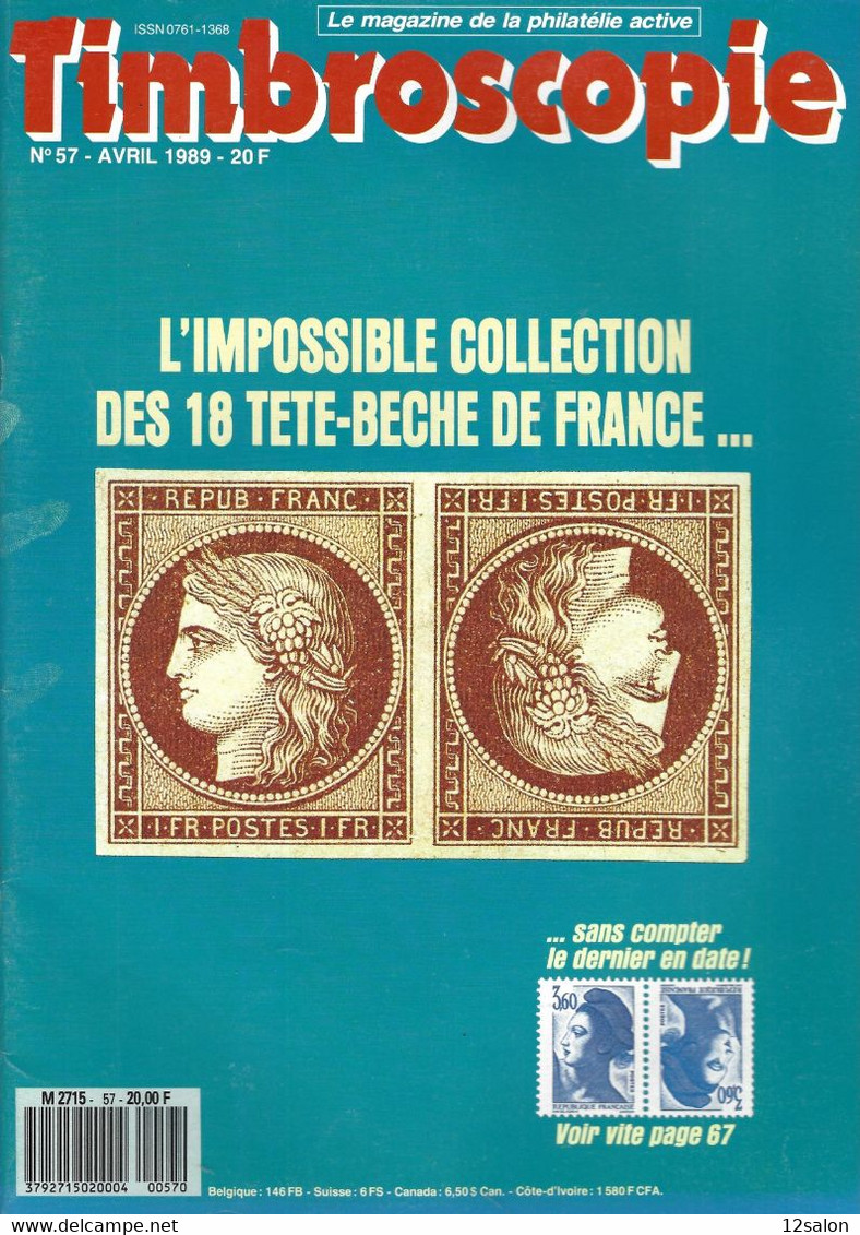 TIMBROSCOPIE  N° 57 + SOMMAIRE - Francesi (dal 1941))
