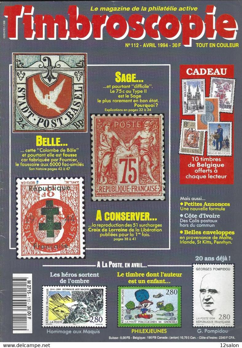 TIMBROSCOPIE  N° 112 + SOMMAIRE - Francesi (dal 1941))