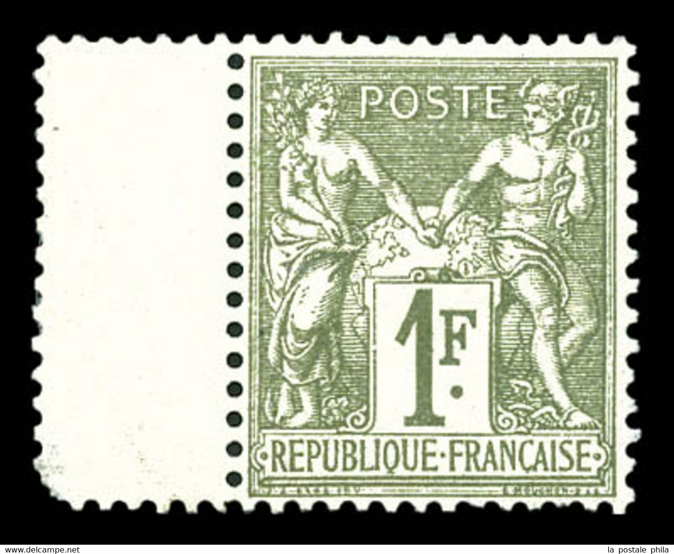 N°72, 1f Bronze Type I, Très Bon Centrage Bdf. SUP. R. (certificats)  Qualité: ** - 1876-1878 Sage (Typ I)