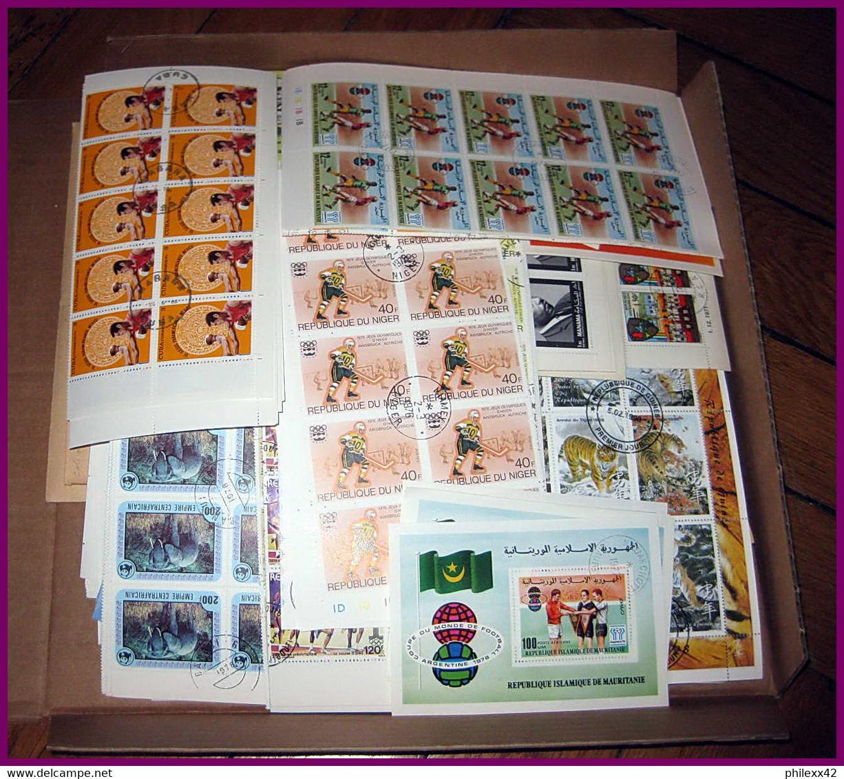 Départ 1 Euro - Lot 4a TB Stock/lot Thématique 1000 Blocs / Séries Complètes  Jeux Olympiques Animaux Napoleon Birds - Lots & Kiloware (mixtures) - Min. 1000 Stamps