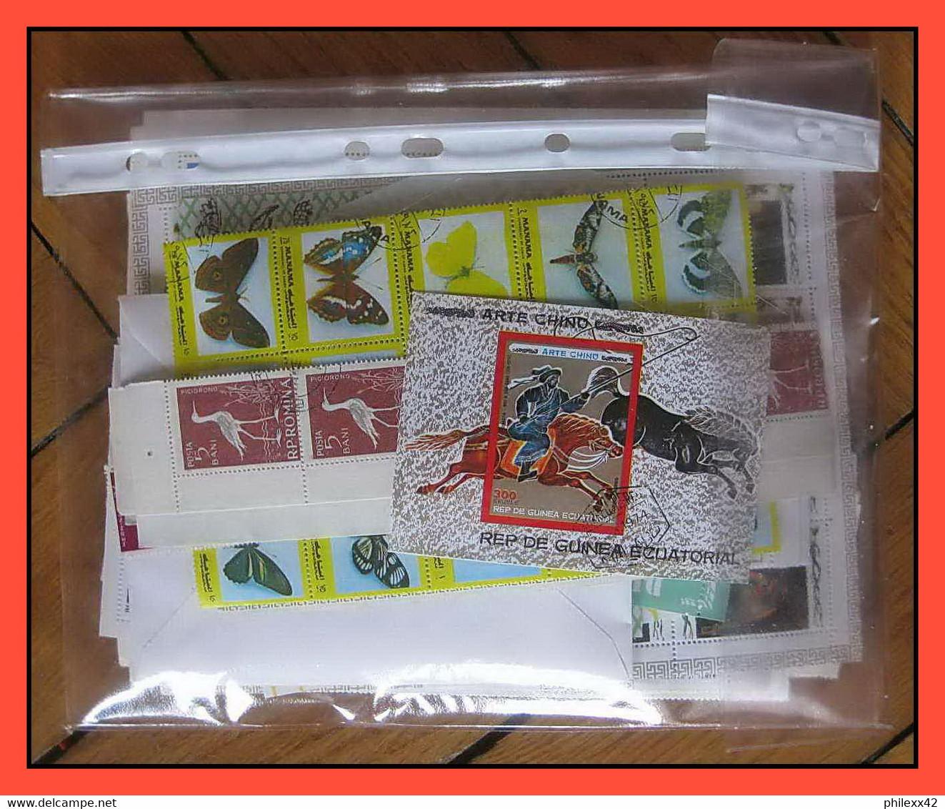 Départ 1 Euro (lot 5a) THEMATIQUE Collection De 100 BLOCS Séries  Forte Cote Animaux Faune Fleurs (Animals  Fauna Flower - Colecciones (sin álbumes)