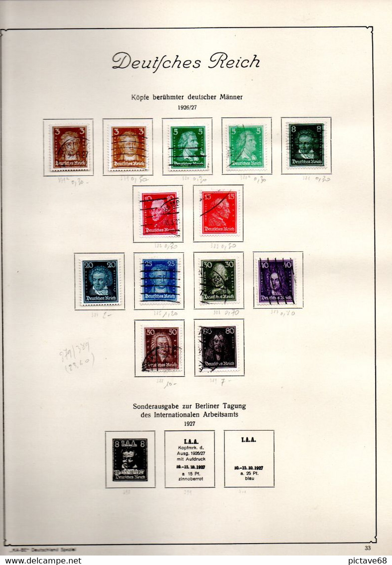 ALLEMAGNE / DEUTSCHES REICH COLLECTION DE 1872 A 1945 DANS ALBUM KA BE - Collections