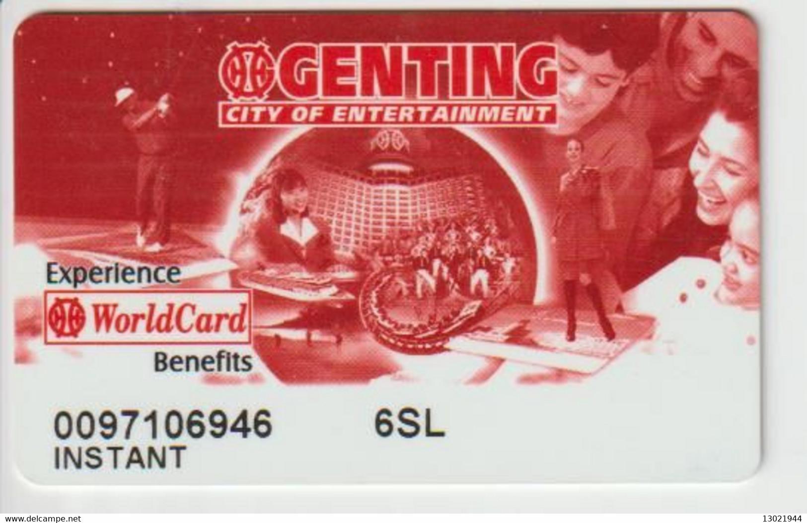 MALESIA KEY CASINO   Genting Malaysia - Casino Cards