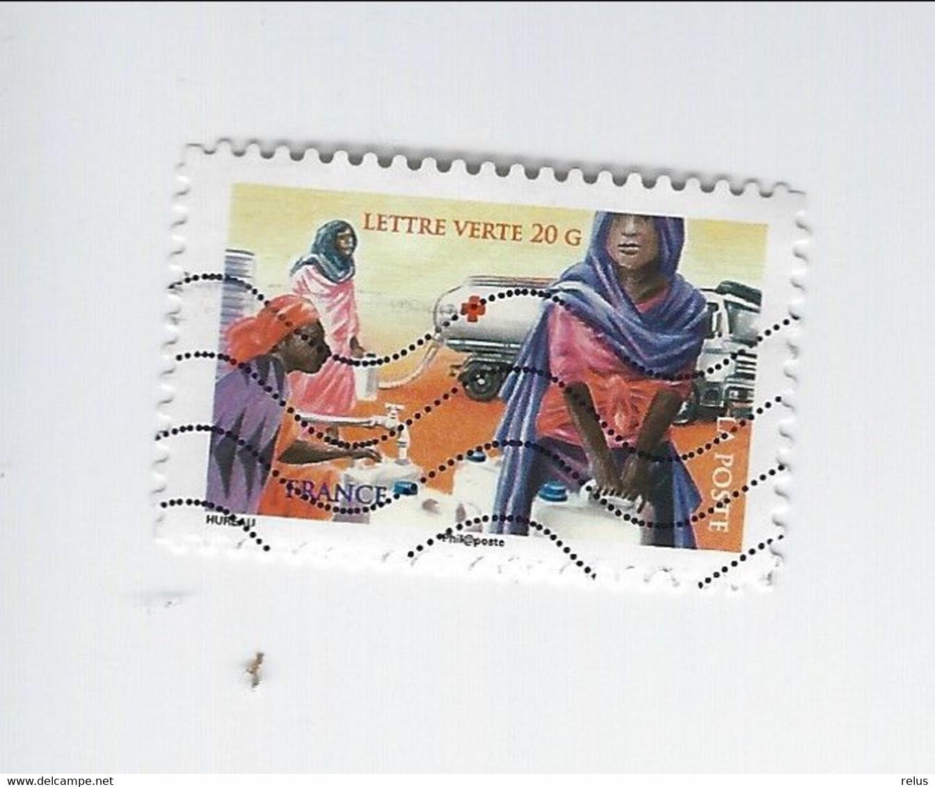Au Profit De La Croix-Rouge La Croix-Rouge Française En Action Adhésif N° 1134 Oblitéré 2015 - Adhesive Stamps