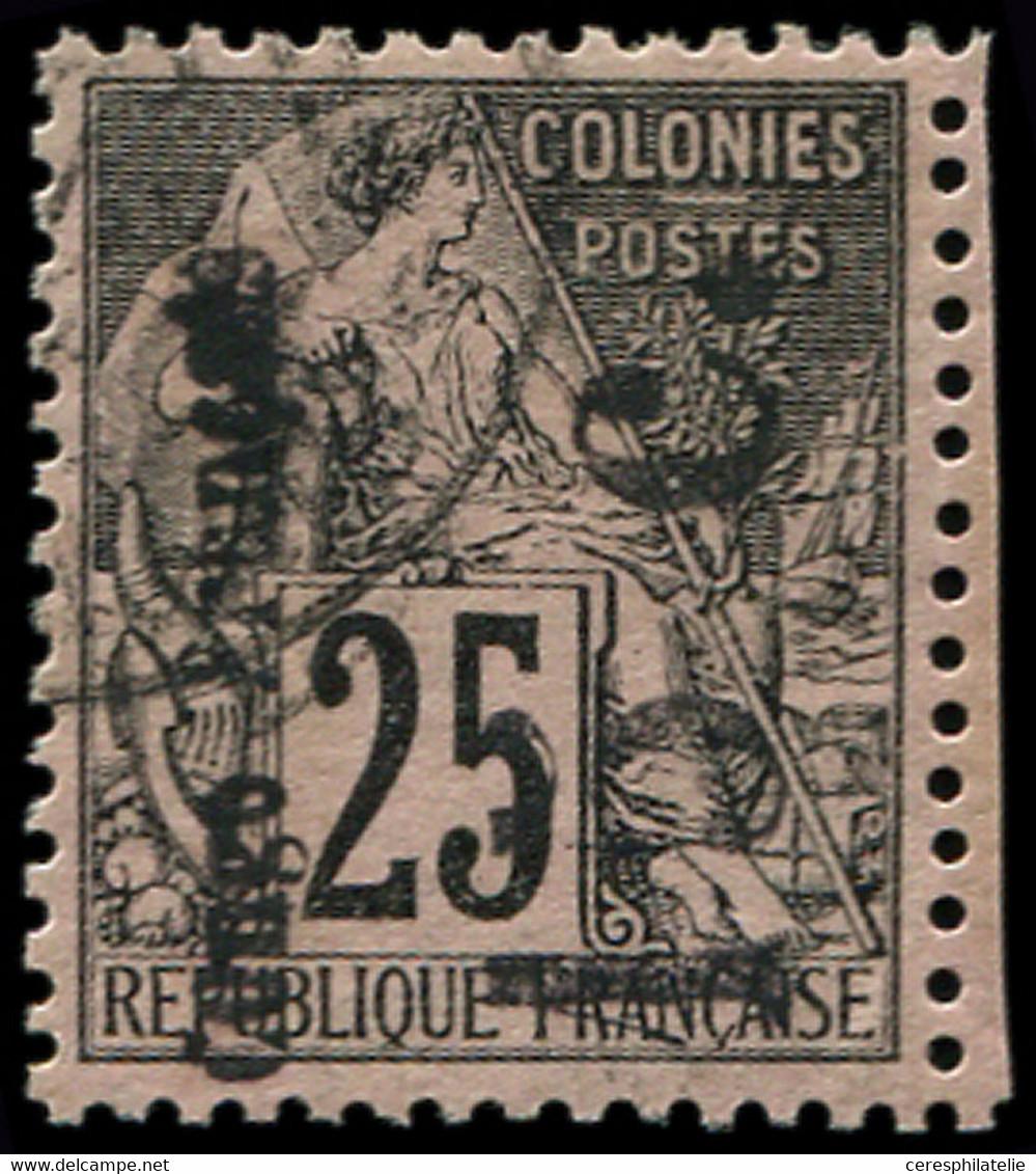 CONGO 7b : 15c. Sur 25c. Noir Sur Rose, Surch. Verticale, Obl., TB - Zonder Classificatie