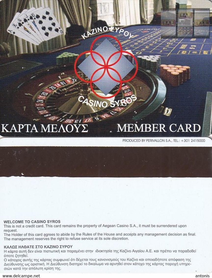 GREECE - Casino Syros(reverse Perivallon), Member Card, Unused - Casino Cards