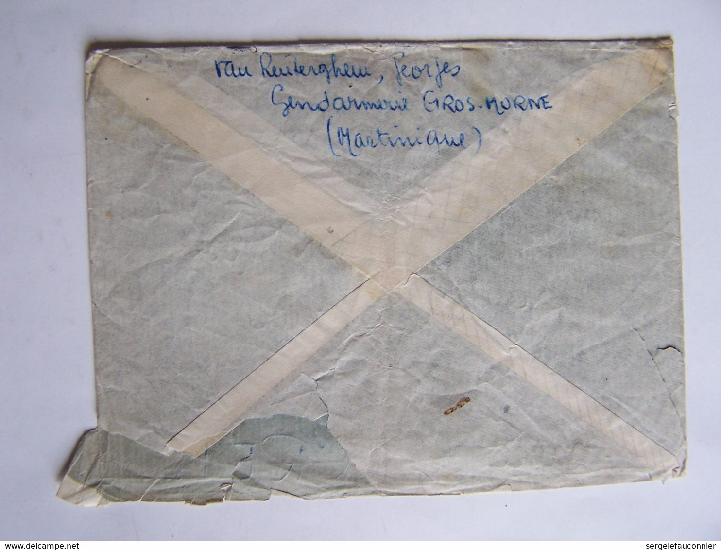 FRANCE28-2-1953 MARTINIQUE Vers CREIL (OISE) CACHET GROS-MORNE - Usati