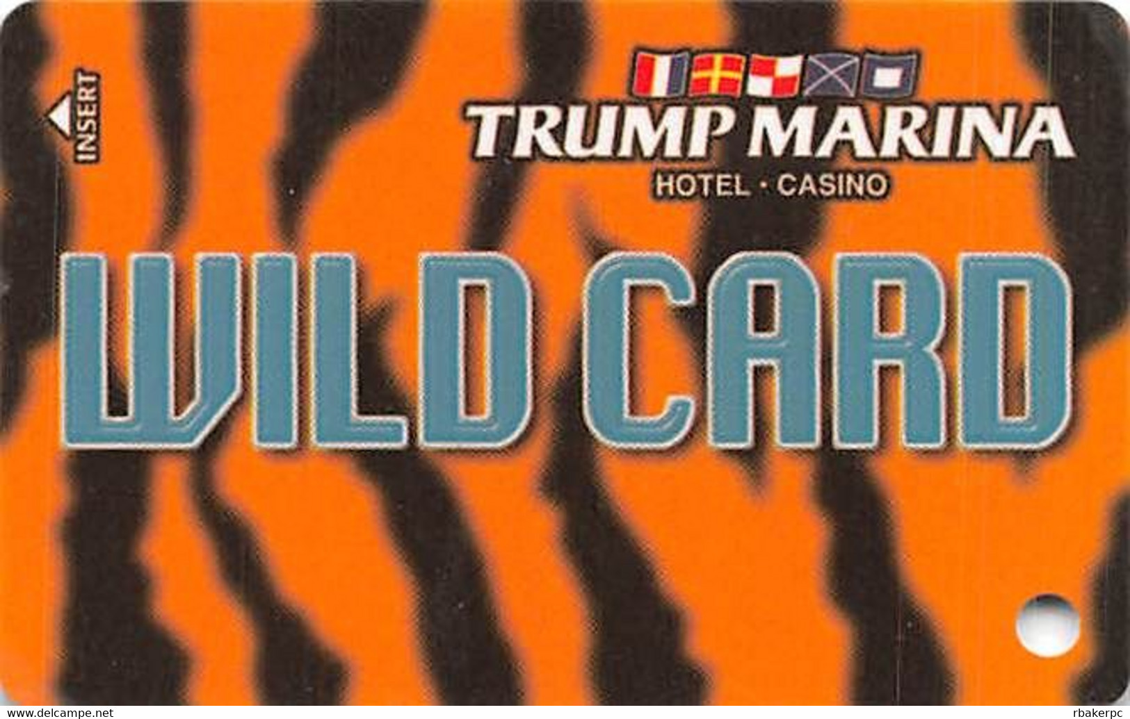 Trump Marina Casino Atlantic City NJ Slot Card  (Blank Without *sm For Copyright) - Casino Cards
