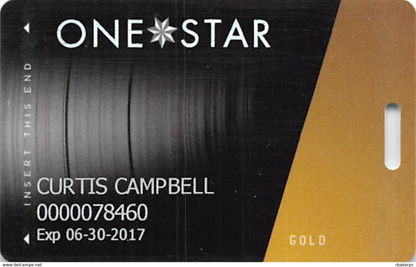 Hard Rock Casino - Tulsa OK - Slot Card With LVP782200-1 Over Mag Stripe - Casino Cards