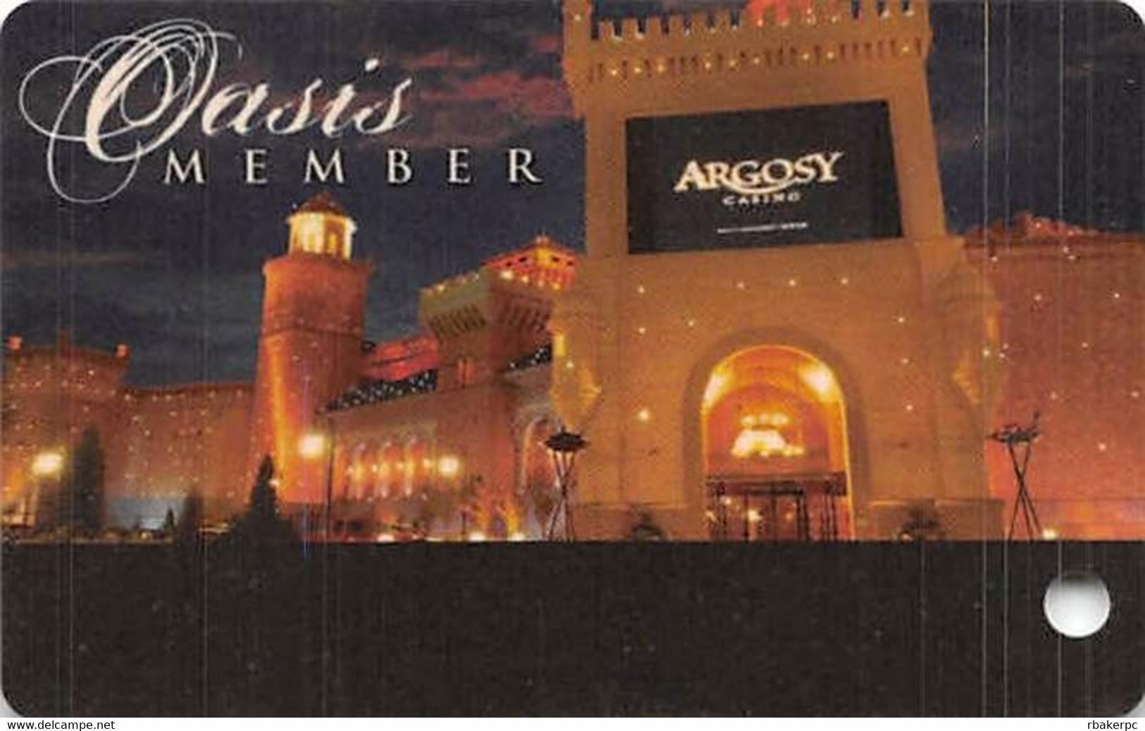 Argosy Casino - Riverside, MO USA - BLANK Oasis Member Slot Card - Casino Cards