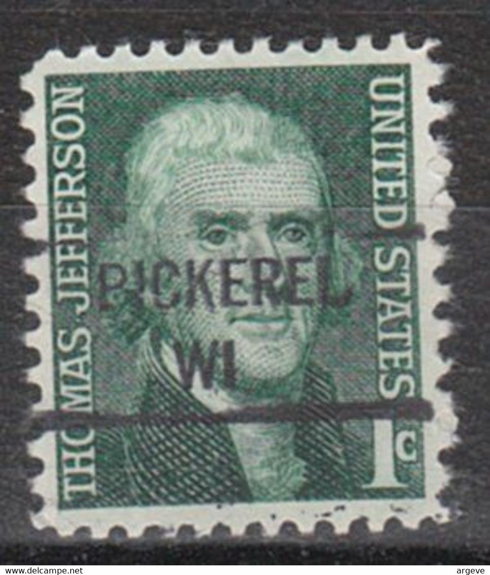 USA Precancel Vorausentwertung Preo, Locals Wisconsin, Pickerel 841 - Precancels