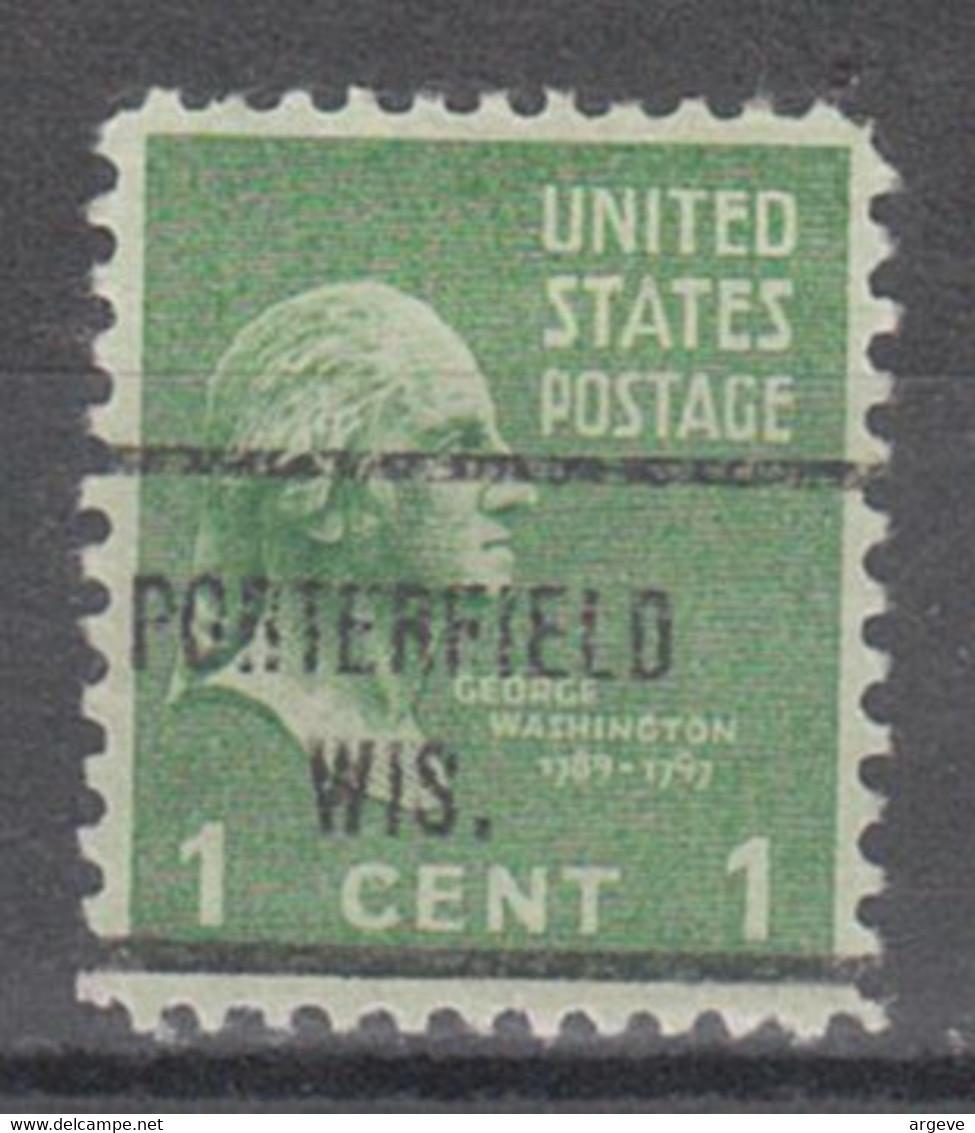 USA Precancel Vorausentwertung Preo, Locals Wisconsin, Porterfield 713 - Precancels