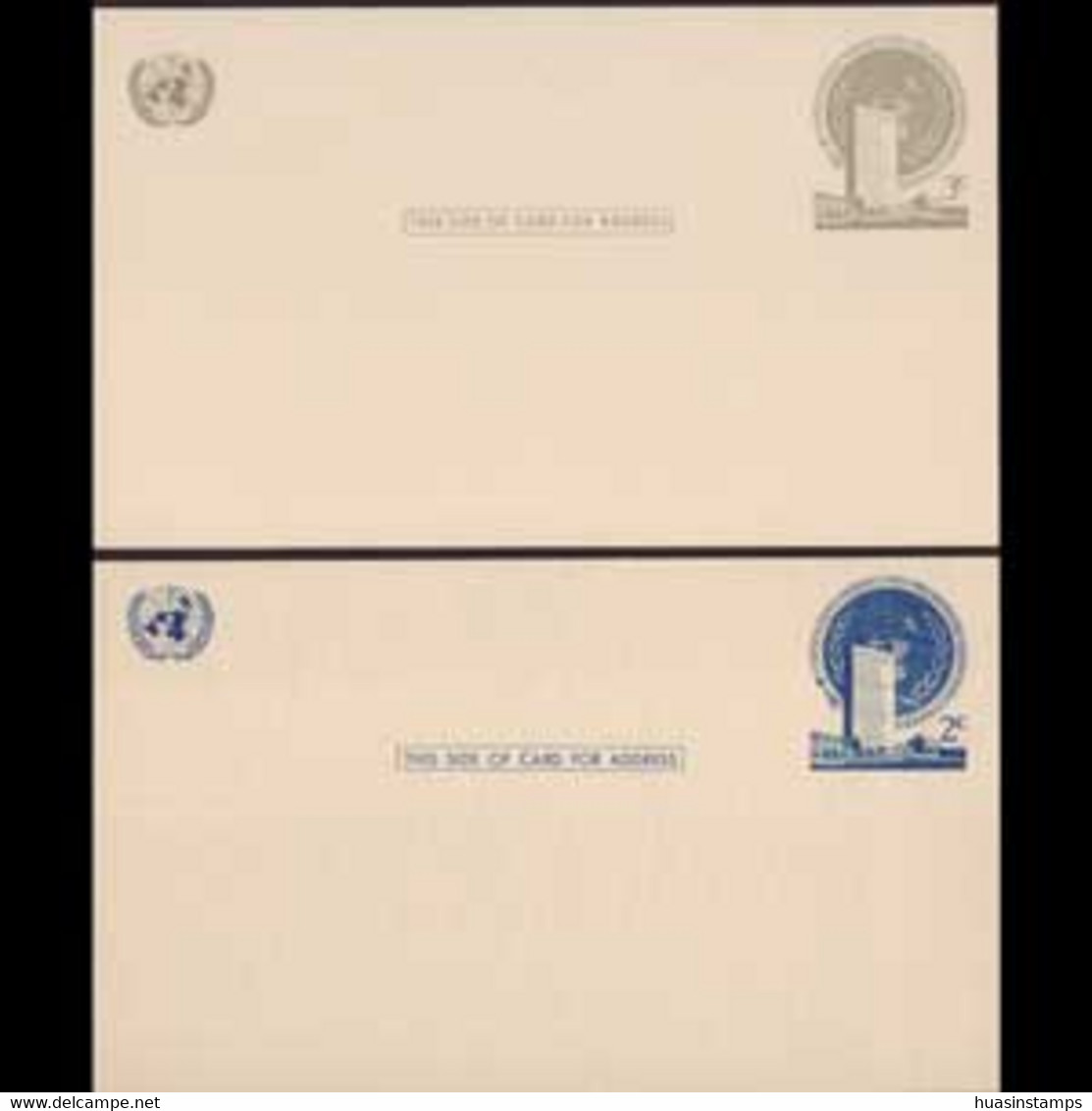UN-NEW YORK 1951 - Pre-stamped Cards-Headquarters 2-3c - Cartas
