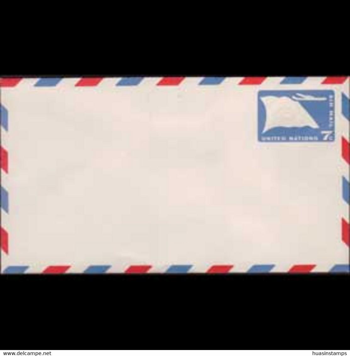 UN-NEW YORK 1959 - Pre-stamped Cover-Flag 7c - Cartas