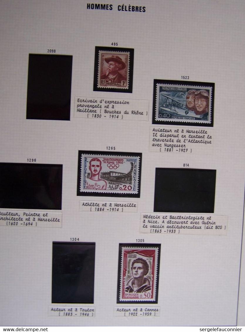 FRANCE LA PROVENCE 9 PAGES A THEMES Qui Restent à Compléter (Références Des Timbres Neufs Sur Leurs Emplacements) - Collezioni