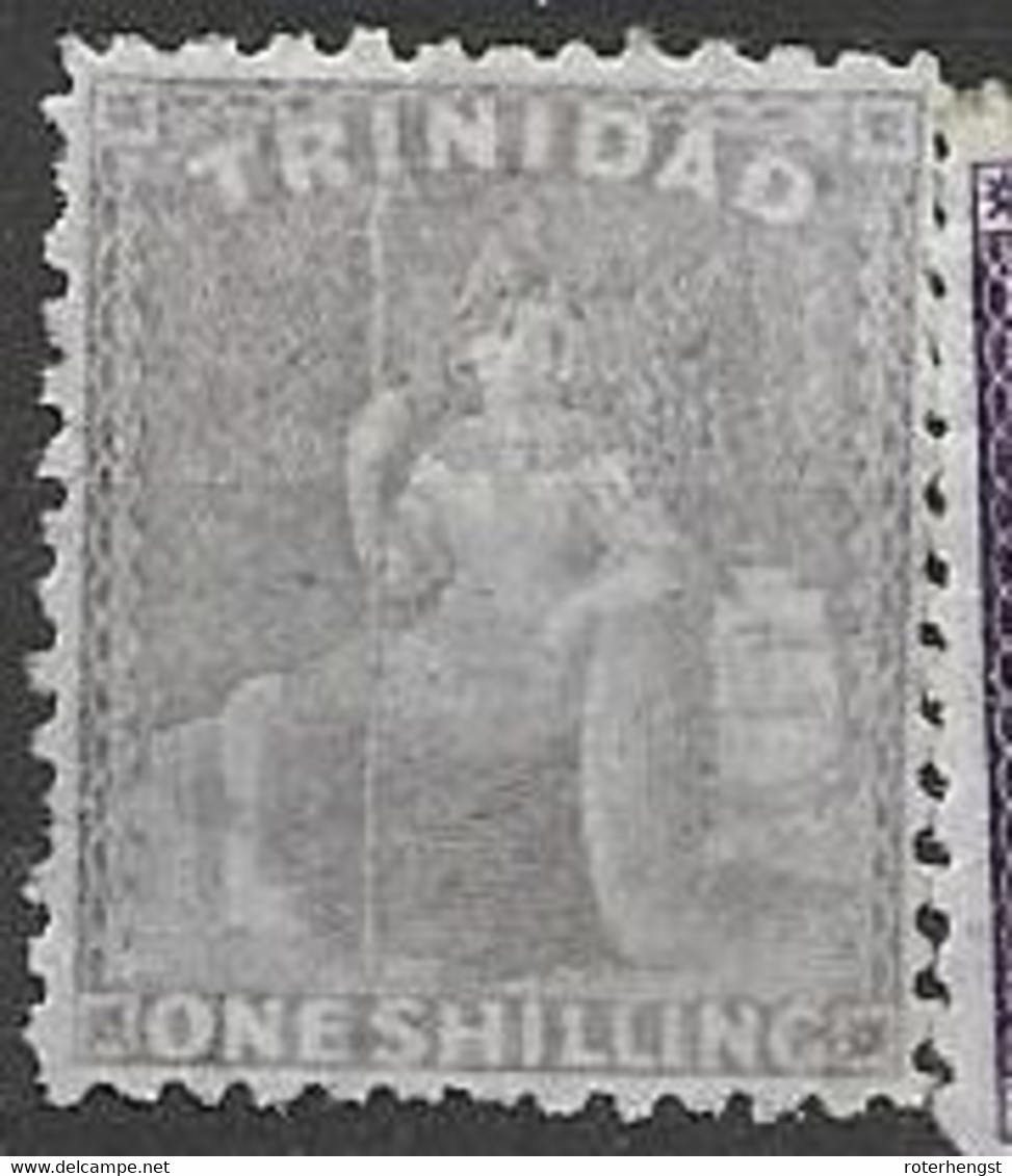 Trinidad Mlh * 110 Euros Signed FROIG Barcelona Michel 23A CC Wtm 1863 (good Perf Hidden Behind Other Stamp, Sorry) - Trinidad & Tobago (...-1961)