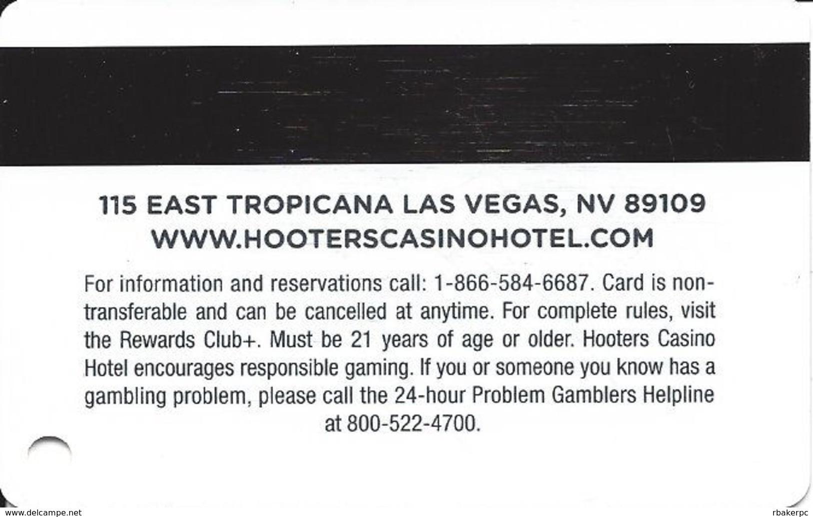 Hooters Casino - Las Vegas, NV - Slot Card - Casino Cards