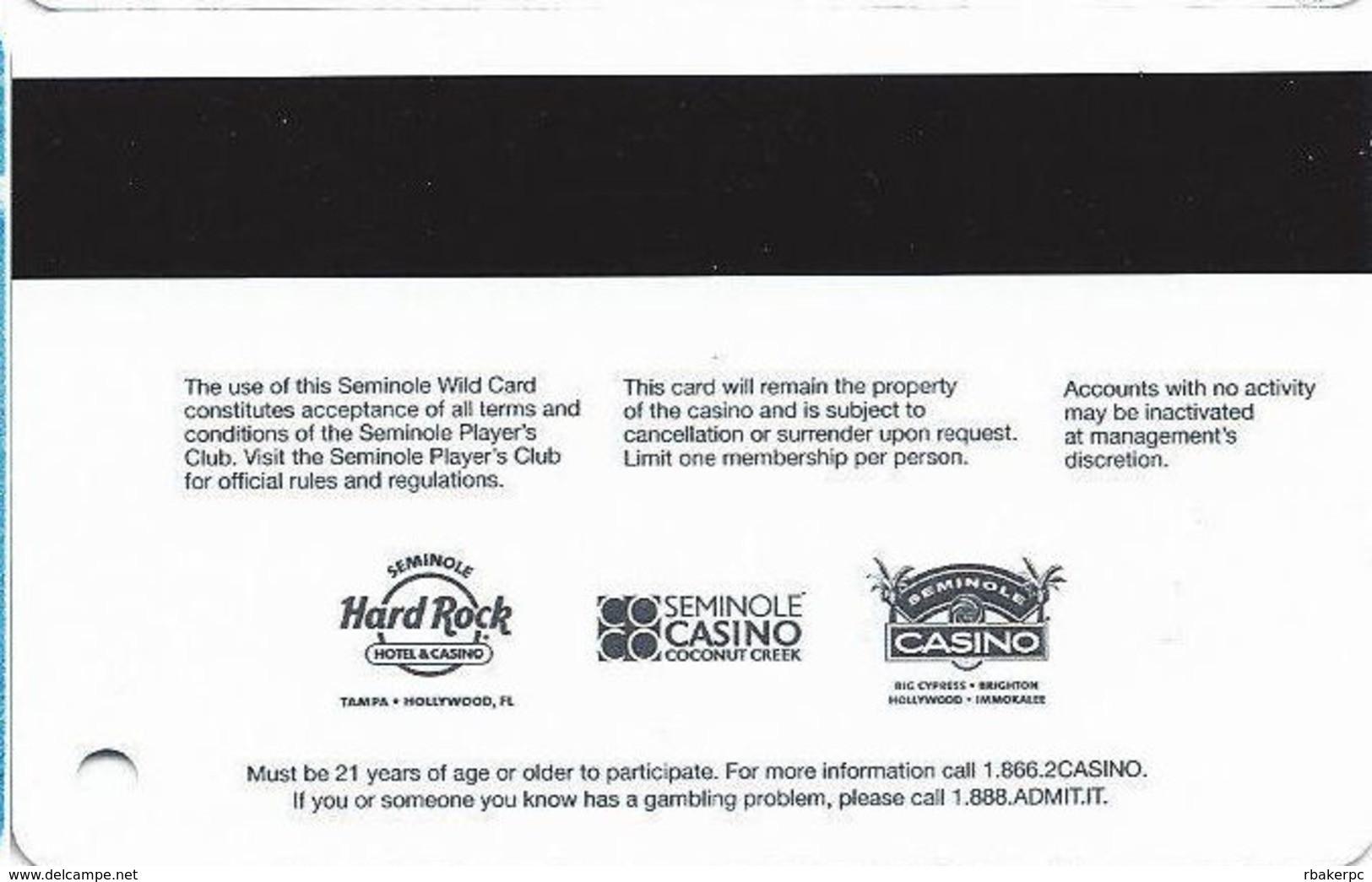 Seminole Hard Rock Casinos USA - Elite Slot Card - Casino Cards
