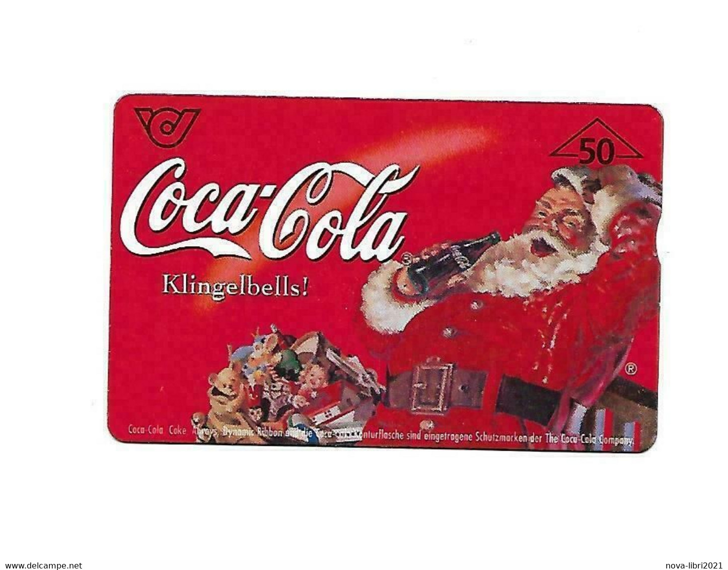 Coca Cola Babbo Natale.Christmas Phone Card Coca Cola Cocacola Babbo Natale Scheda Telefonica Santa Claus Weihnachtsmann