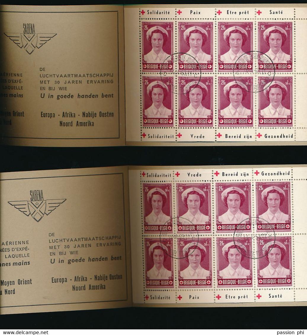 "BELGIUM COB 914 Ab / Bb BOOKLET RED CROSS ""INONDATIONS"" USED - Gebruikt"