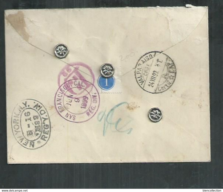 Hong Kong.Victoria Bloc De 4 Sur  Lettre Recommandée Pour Valparaiso (Chili) Via New York ; - Covers & Documents