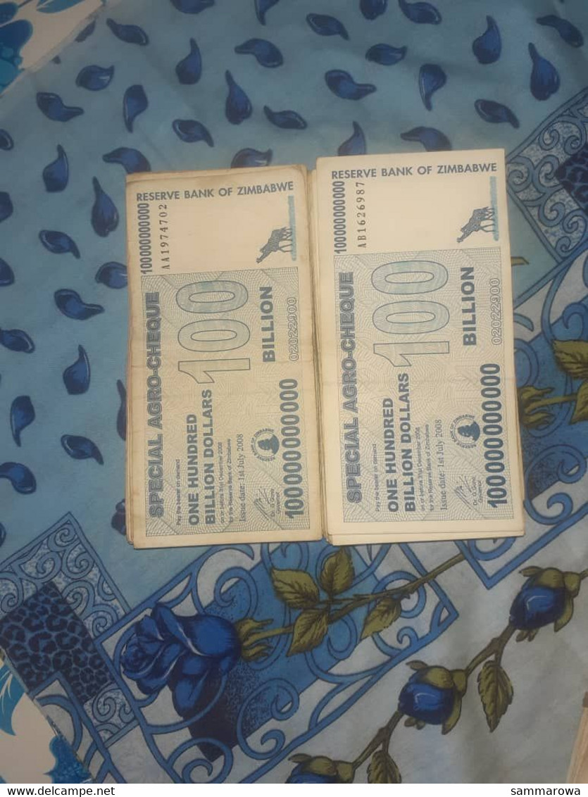 100 Billion Special Agrocheques And 10 Billion Notes - Zimbabwe