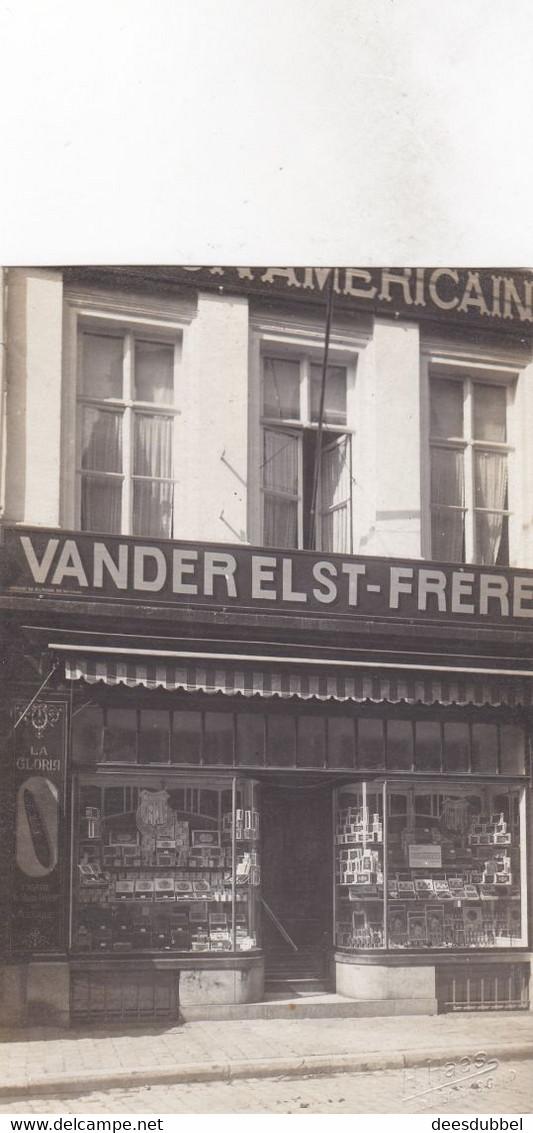 FOTOKAART Sigarenwinkel GEBROEDERS VAN DER ELST  GENT  (Fotostudio H.HAES Rue Du Nord, Noordstraat GENT) - Gent