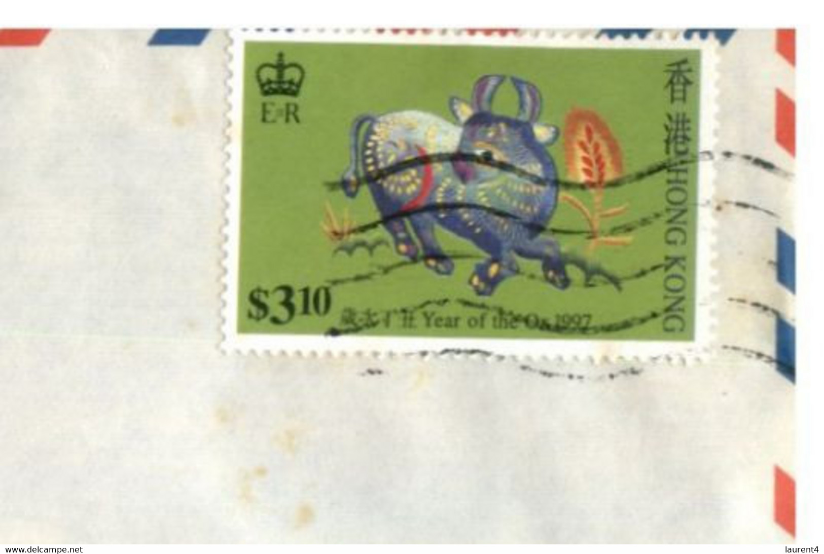 (II 26) Hong Kong - Cover Posted To Australia - 1997 & 1993 (2 Covers) Year Of The Ox Stamp - Cartas