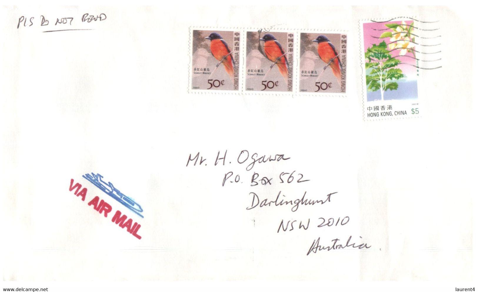 (II 26) Hong Kong - Cover Posted To Australia - (1 Cover) Hong Kong China Stamps - Cartas