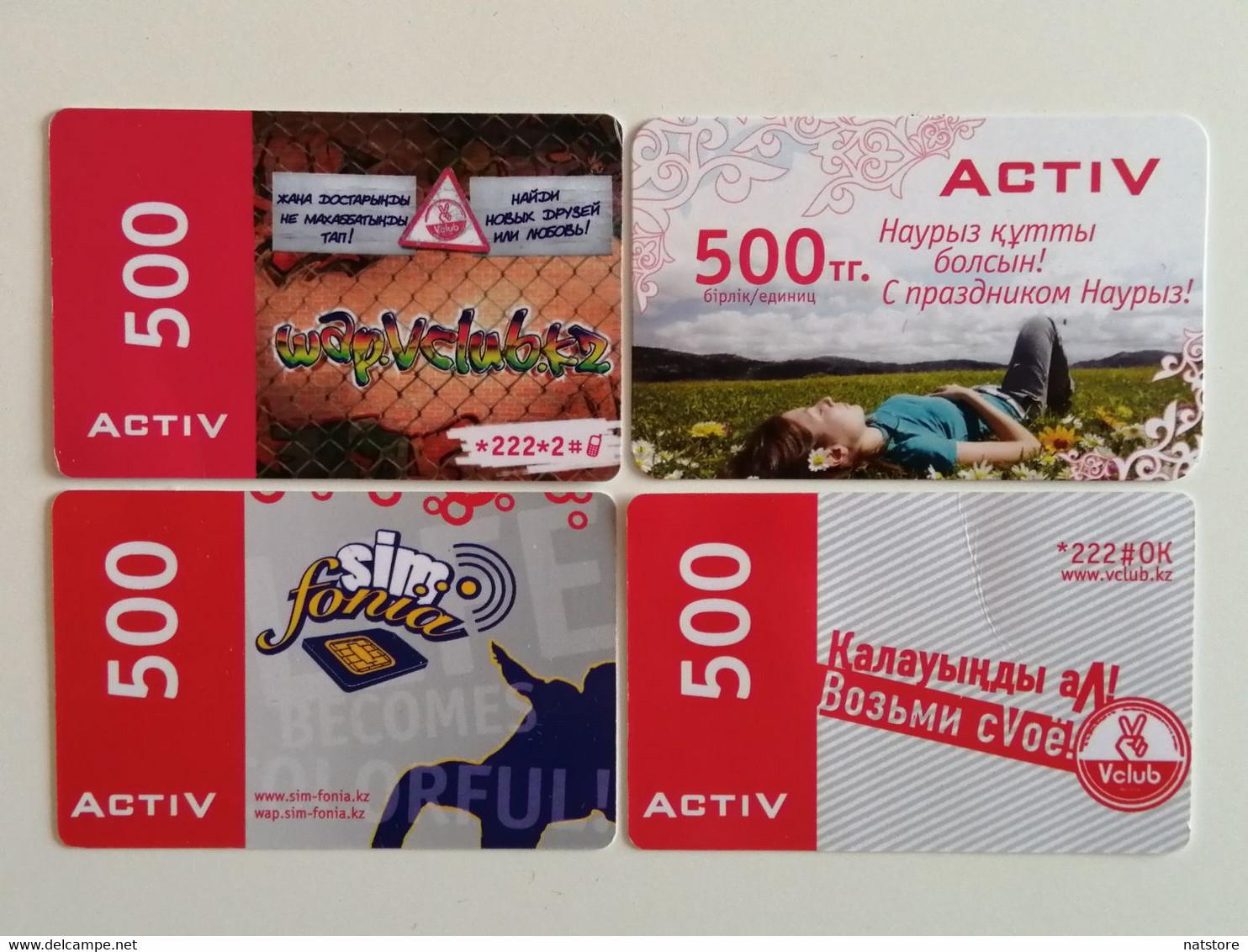 KAZAKHSTAN.. LOT OF 4 PHONECARDS.. ACTIV..500 - Telecom Operators