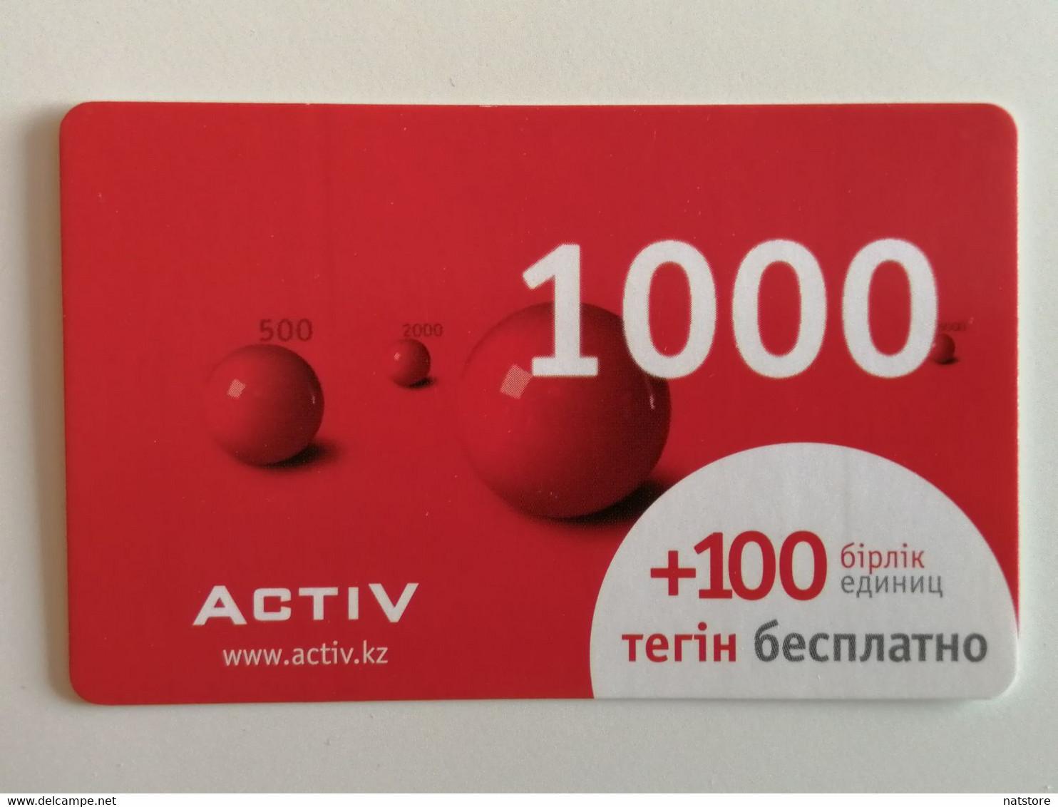 KAZAKHSTAN..  PHONECARD.. ACTIV..1000 - Telecom Operators