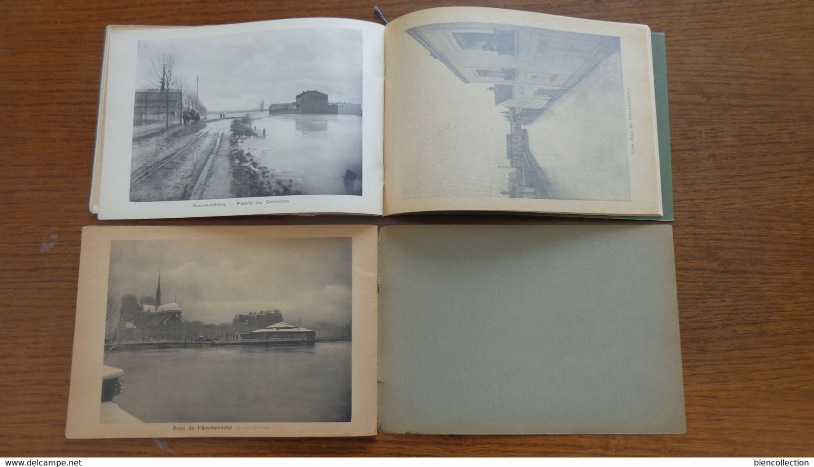 2 Livrets De 32 Photos Sur Les Inondations De Paris Et Sa Banlieue En 1910, - History