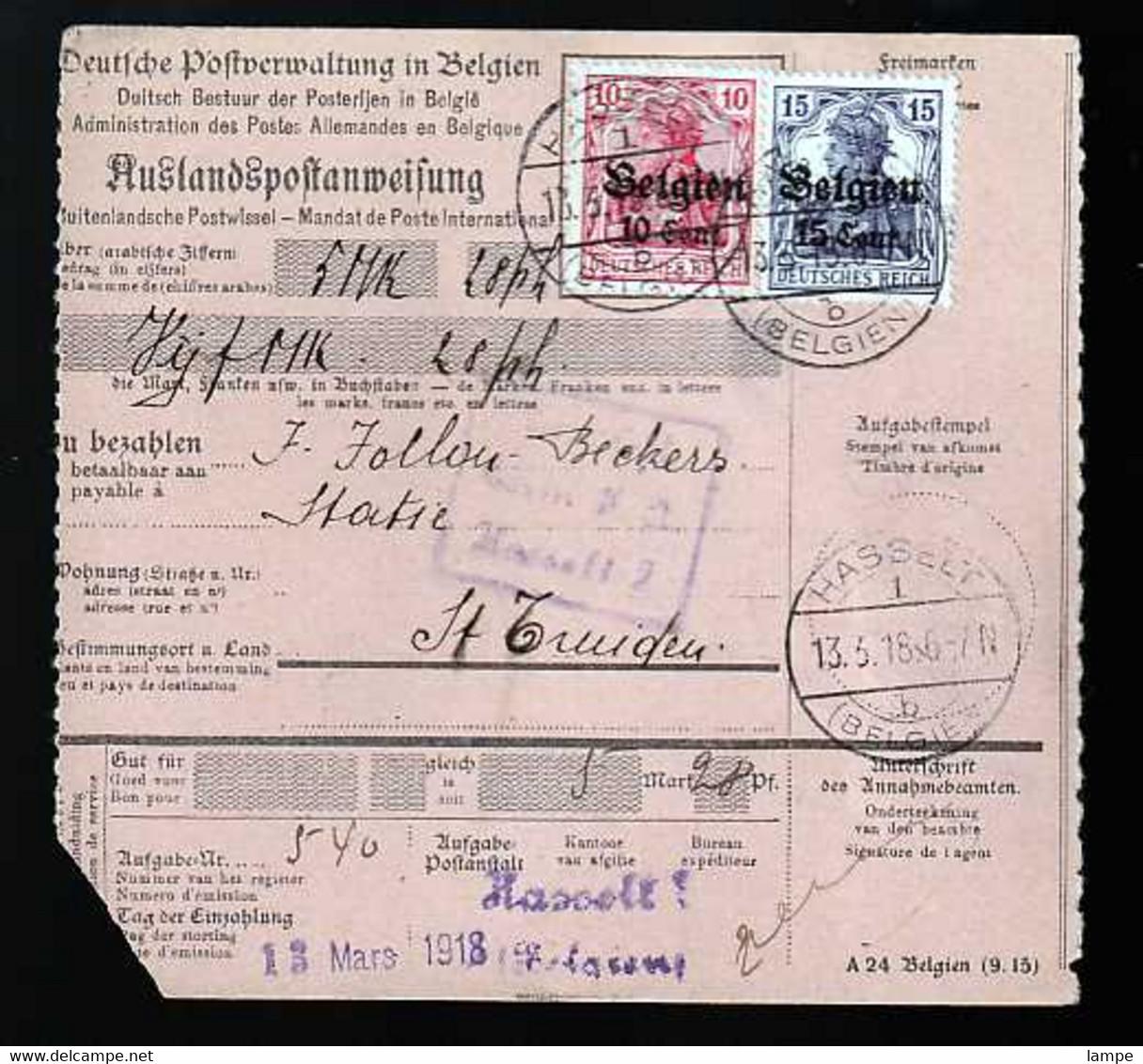 Belgien Beleg - Occupation 1914-18