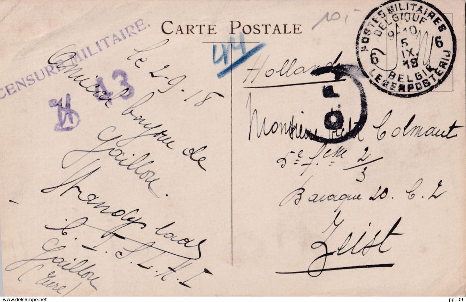 """3 CP Dont 2  """"Asile Des Soldats Invalides Belges"""" + Sir Douglas HAIG  PMB 4, 6 CALAIS  Censure Folkestone Interné ZEIST - Army: Belgium"""
