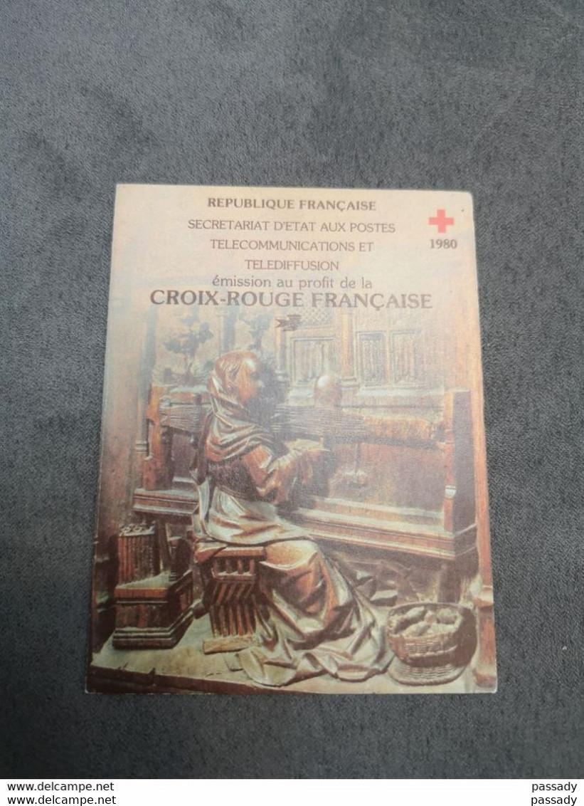 ⭐ Carnet CROIX-ROUGE 1980, Timbres NEUFS** - Excellent État Sans Charnières Stalles Cathédrale D'Amiens ⭐ - Croix Rouge