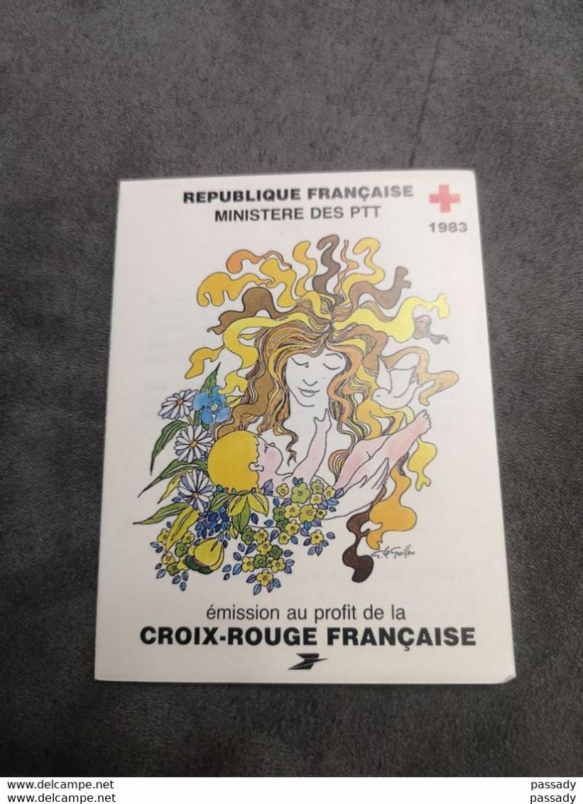 ⭐ Carnet CROIX-ROUGE 1983, Timbres NEUFS** - Excellent État Sans Charnières Vierge à L'Enfant ⭐ - Red Cross