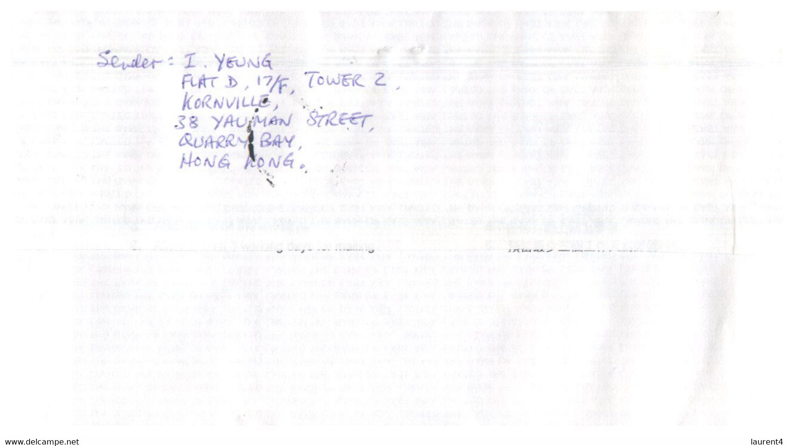 (II (ii) 31) Letter Posted From Hong Kong To Australia (2 Covers) 1997 - Cartas
