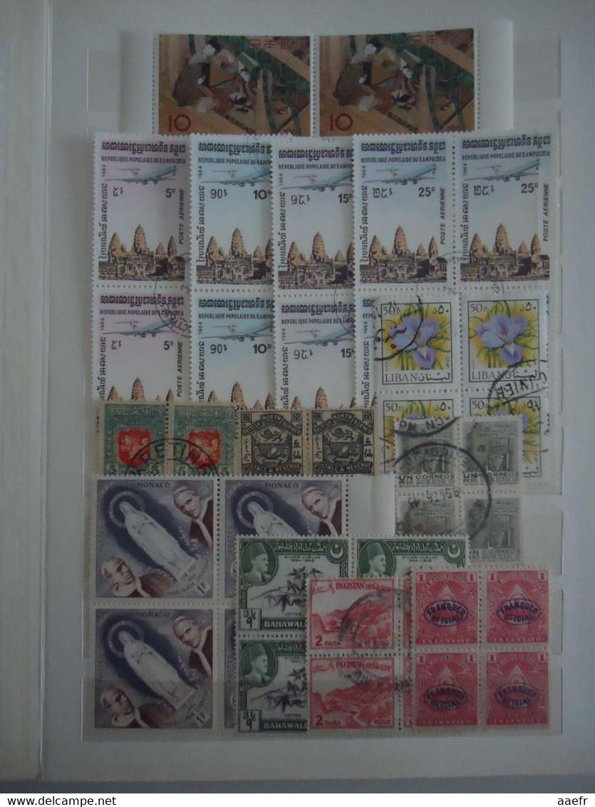 Monde : 250 Blocs De 4 Timbres Dans Un Album - MH/MH/Oblitérés -  Tous Pays - Kilowaar (min. 1000 Zegels)