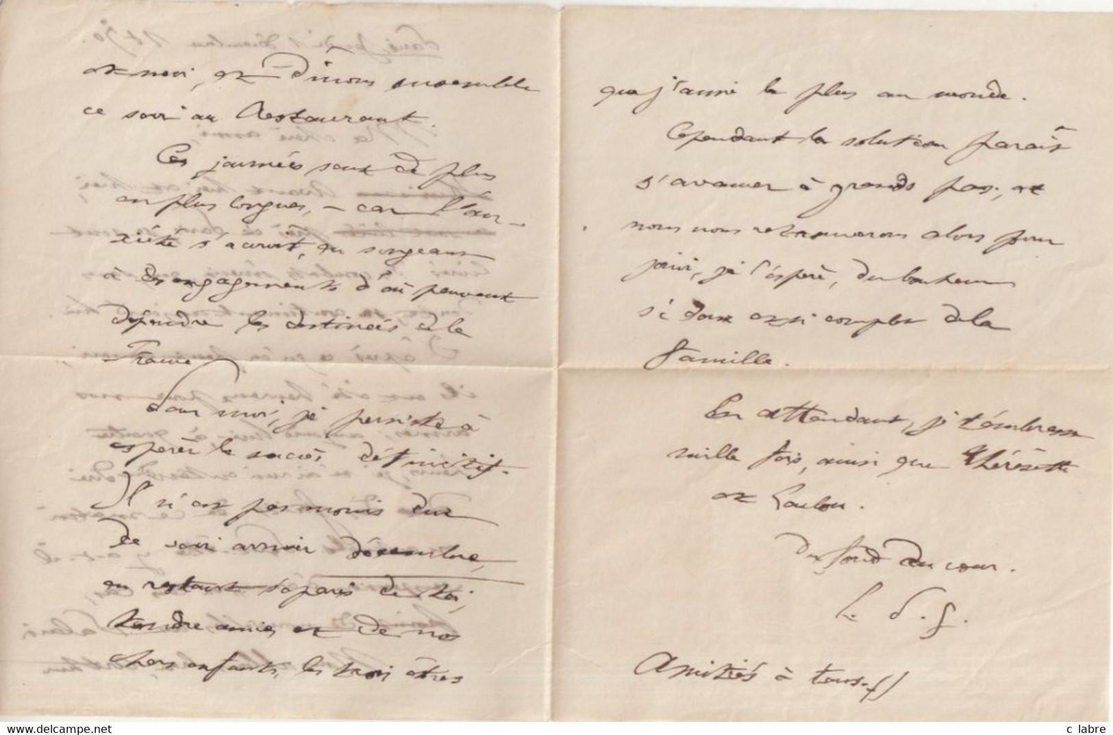 """FRANCE : BALLON MONTE . N° 27 . OBL ETOILE N° 32 . """" R. DE LA ST CHAPELLE  """" . 01/12/70 . POUR PUTAGES . ( ORNE ) . . - Guerra De 1870"""