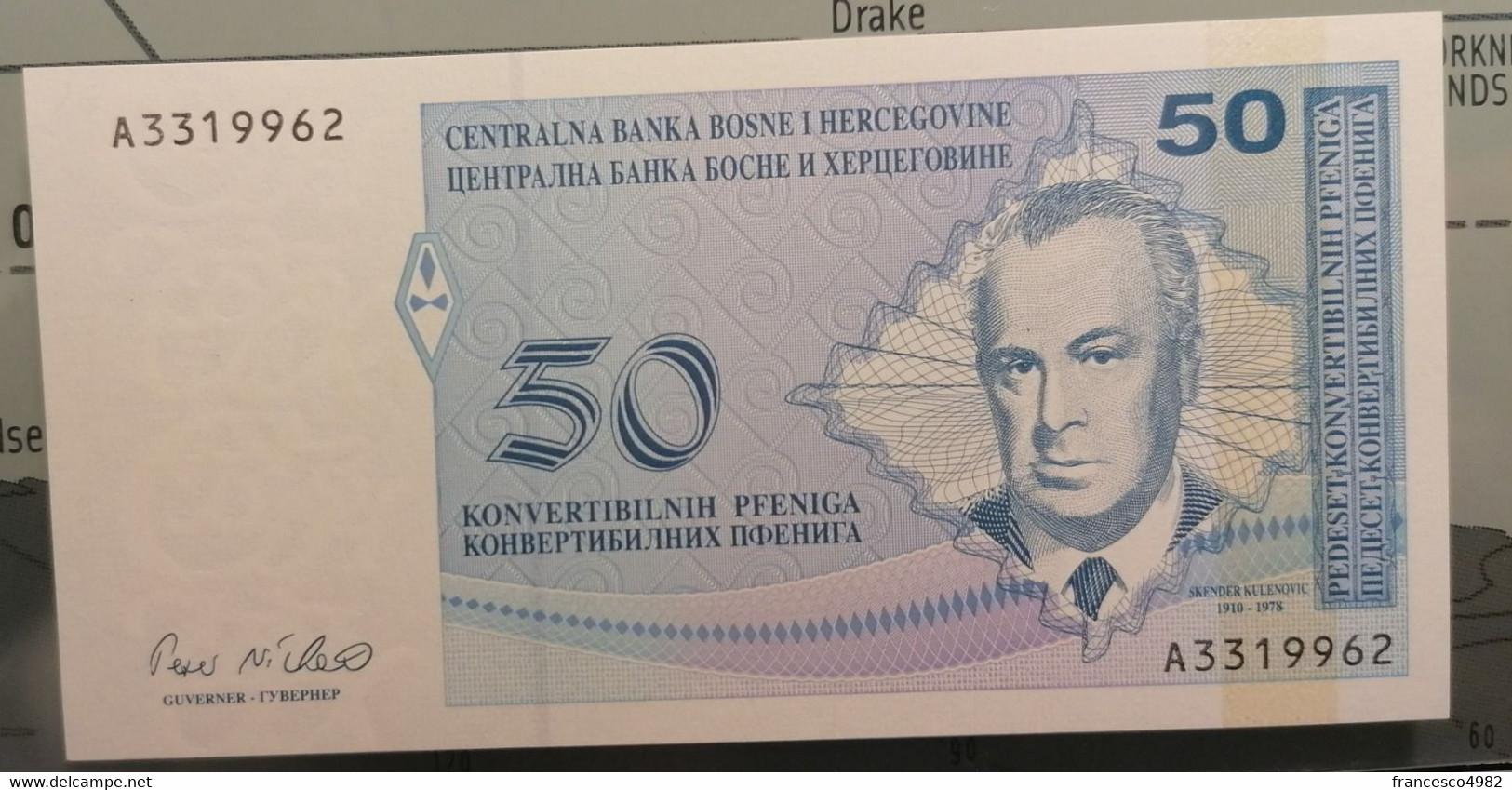 BOSNIA & HERZEGOVINA - P.57a – 50 Konvertibilnih Pfeniga1998 - UNC - Bosnia Erzegovina