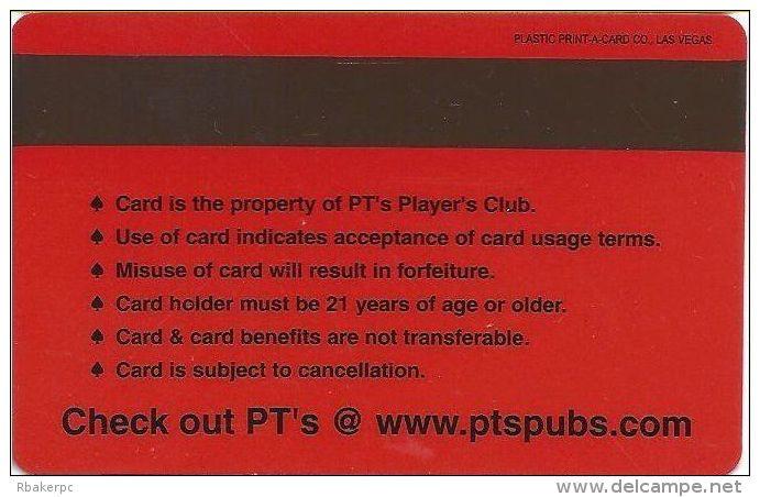 PT's Gaming Henderson NV Slot Card - Casino Cards