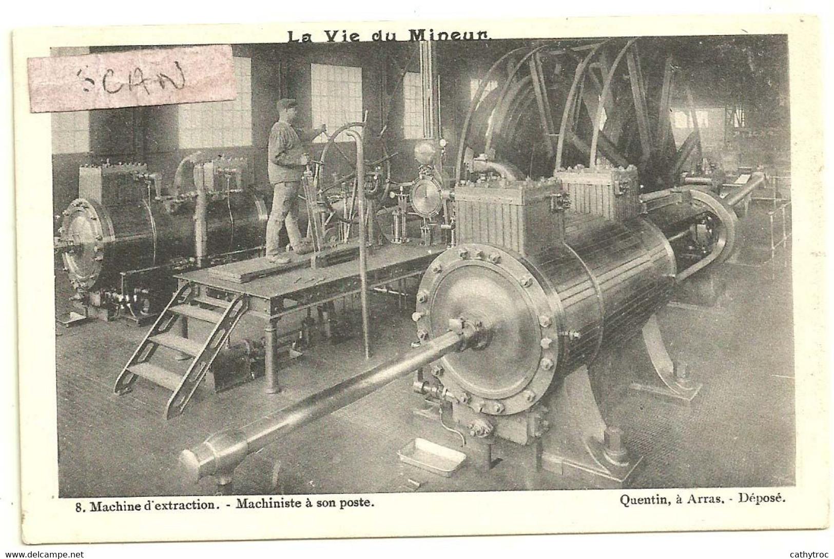 La Vie Du Mineur édition Quentin Arras : Machine D'extraction Et Machiniste - Arras