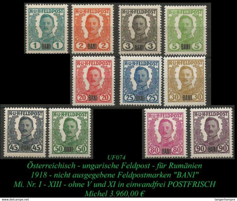 Österr. - Ungarische Feldpost - Rumänien - Aus Mi. Nr. I - XIII -RRR- - Levante-Marken