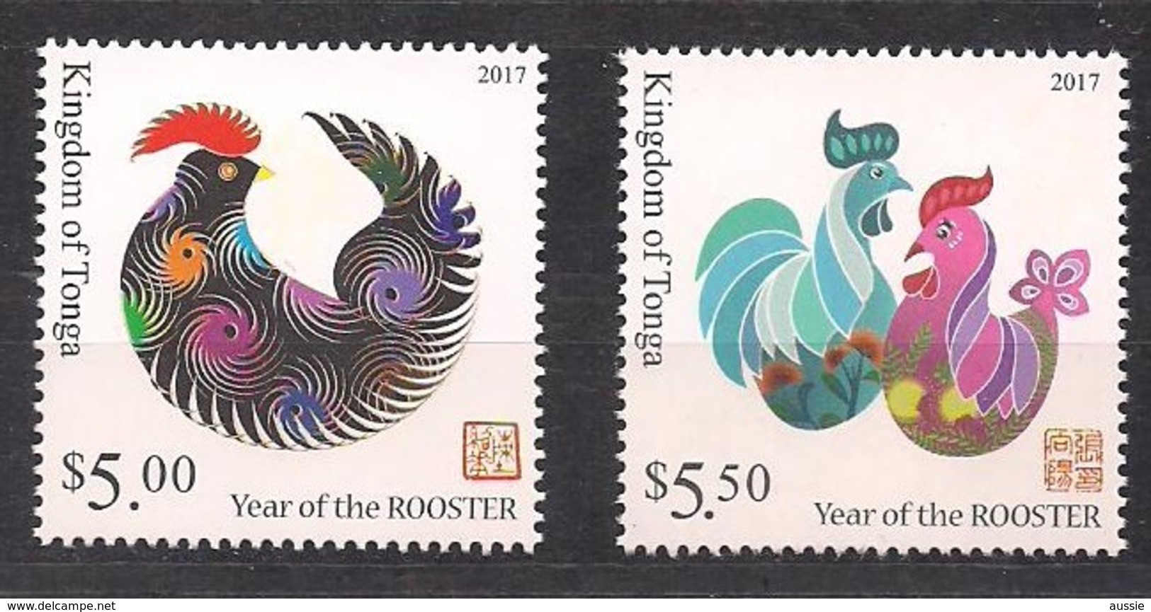 Tonga  2017  Année Du Cocq Year Of The Rooster *** MNH - Tonga (1970-...)