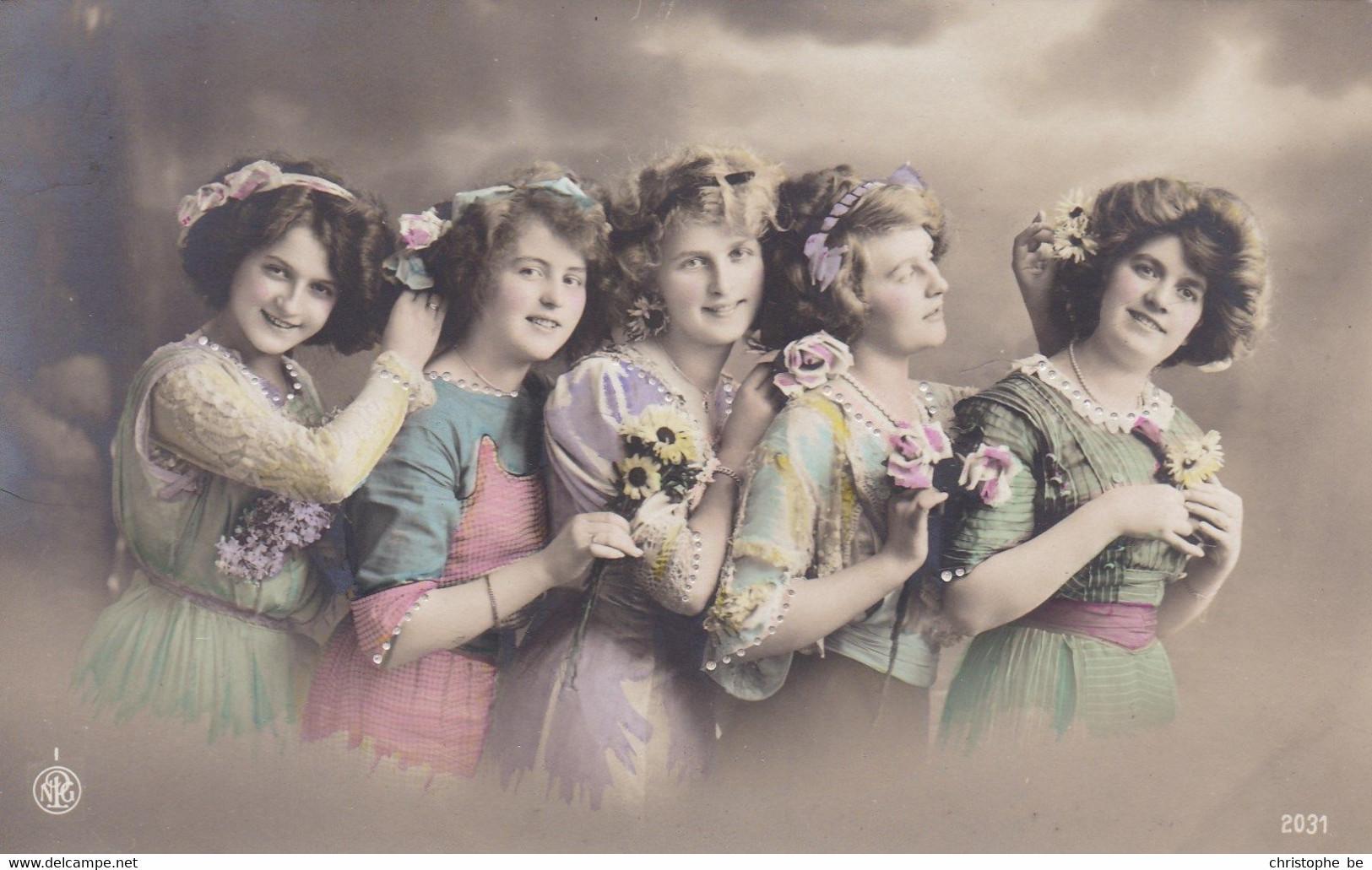 Portrait Of 5 Young Girls, 5 Jeunes Filles (pk77701) - Retratos
