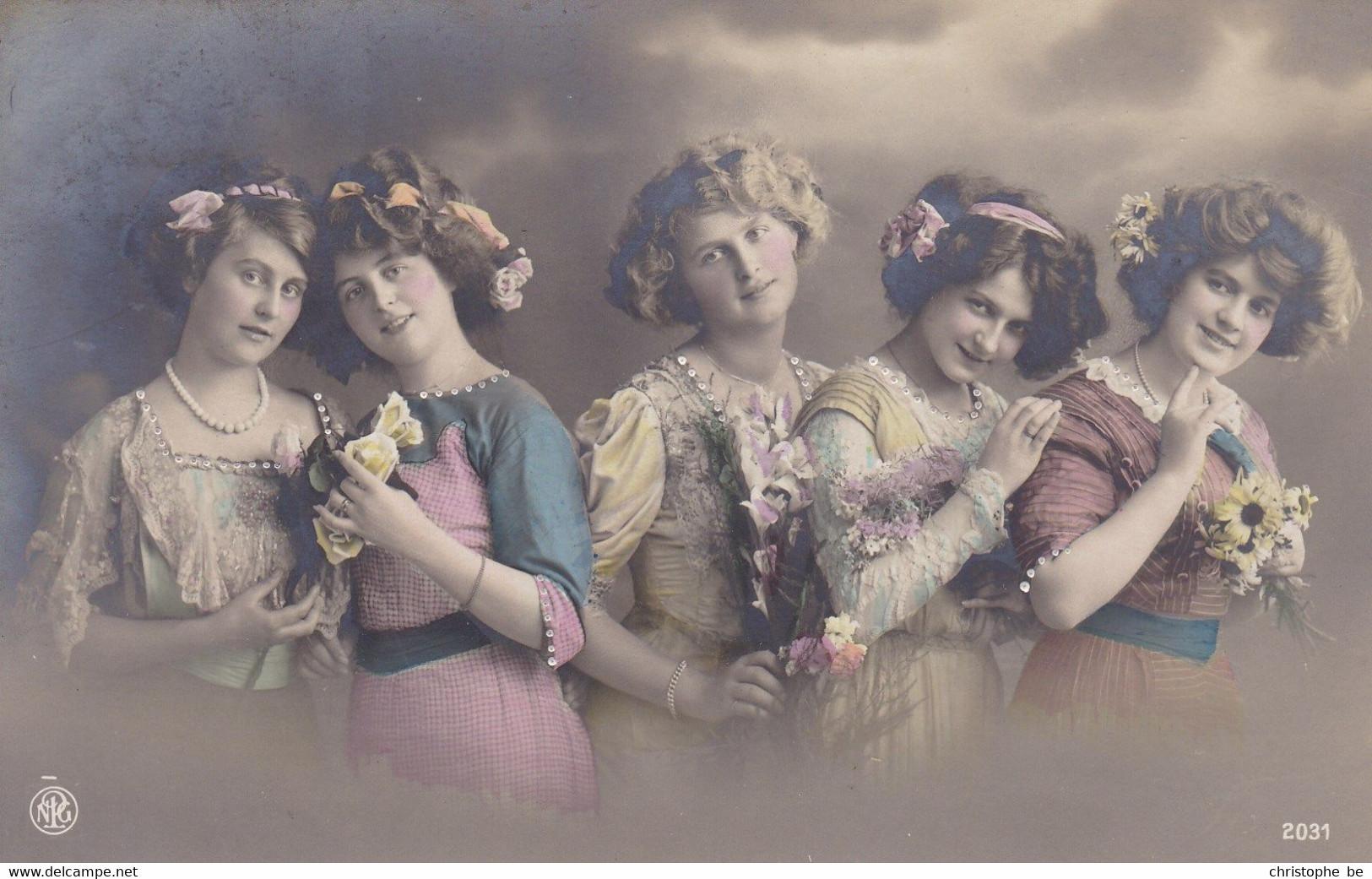 Portrait Of 5 Young Girls, 5 Jeunes Filles (pk77702) - Retratos