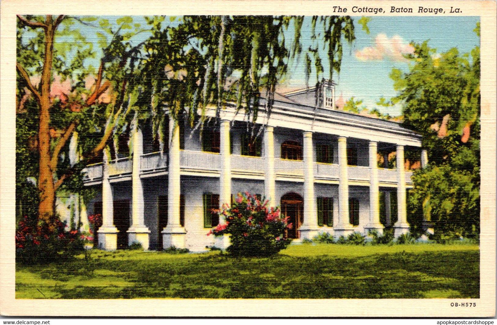 """Louisiana Baton Rouge """"The Cottage"""" Built 1824 Curteich - Baton Rouge"""