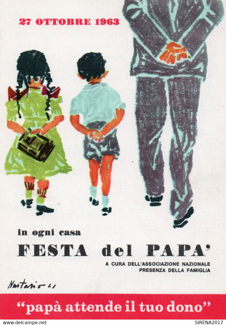 FESTA DEL PAPA' 1963 - Illustartore NASTASIO - NON VIAGGIATA - Ohne Zuordnung