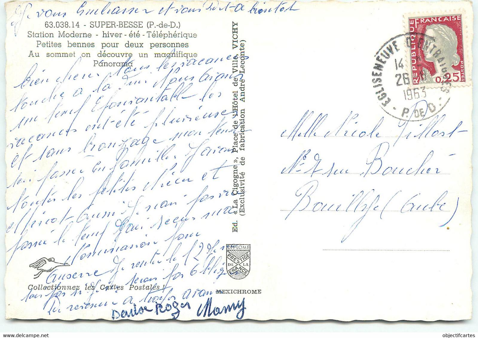 BESSE EN CHANDESSE  Les Petites Bennes Pour Deux Personnes à SUPER BESSE   Ref 1368 - Besse Et Saint Anastaise